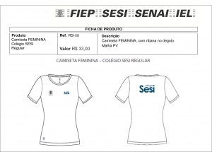 Camiseta Babylook Feminina SESI